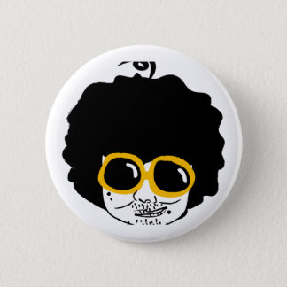 afro man 6 cm round badge