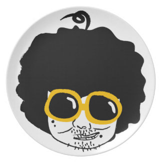 afro man plate