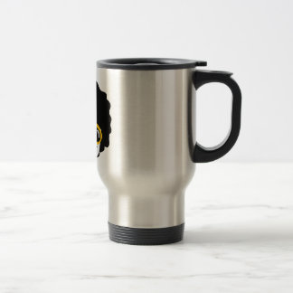 afro man travel mug