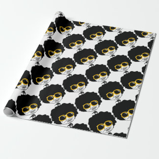 afro man wrapping paper