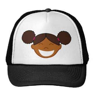 Afro Puffs Girl Face Cap