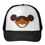Afro Puffs Girl Face Mesh Hats