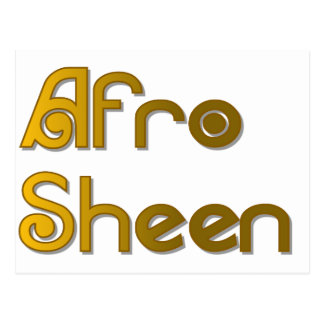 Afro Sheen Sist- gold Postcard