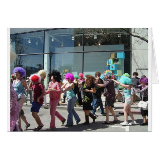 Afro Wig Gathering, Santa Cruz, California Card