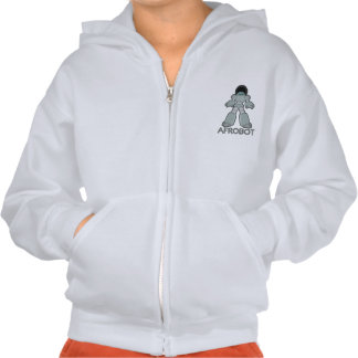 Afrobot - Robot with Afro Hoodie