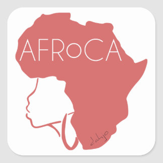 AFROCA . AFRO plus AFRICA (female) Square Sticker