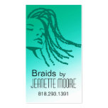 Afrocentric Braids Hair Stylist - aqua Pack Of Standard Business Cards
