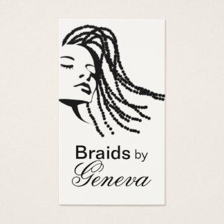 Afrocentric Braids Hair Stylist - black Business Card