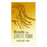 Afrocentric Braids Hair Stylist - yellow Pack Of Standard Business Cards