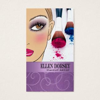 Afrocentric Makeup Artist Illustration (lilac)