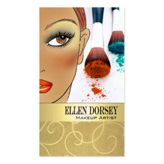 Afrocentric Makeup Artist Illustration Pack Of Standard Business Cards