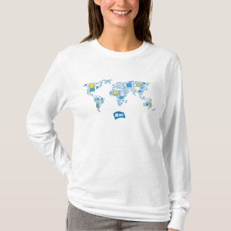 World map t shirts t shirt printing zazzle afs world map women39s hoodie gumiabroncs