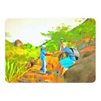 After a long trek 13 cm x 18 cm invitation card
