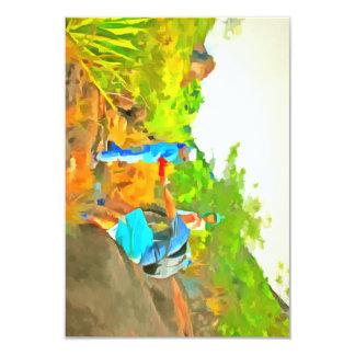 After a long trek 9 cm x 13 cm invitation card