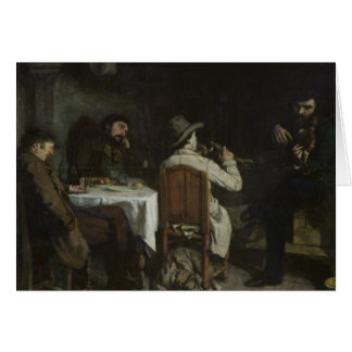 After Dinner at Ornans, 1848 Card