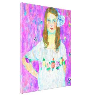After Klimt - Portrait of Mada Canvas Print