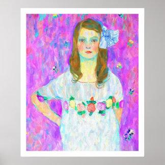 After Klimt - Portrait of Mada Poster