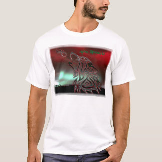After Midnight White Blur Border T Shirt