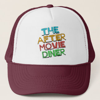 After Movie Diner Neon Logo Trucker Hat