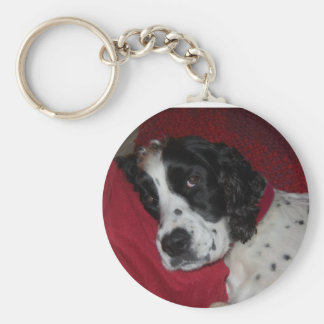 After my nap...can we go for a walk? basic round button key ring