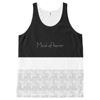 After-Party-Maid-of-Honor-White-Lace-Tank-Top All-Over Print Singlet
