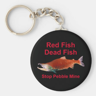 After Salmon - Stop Pebble Mine Key Ring