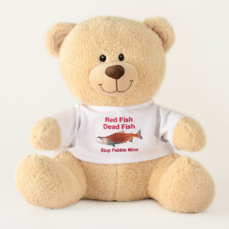After Salmon - Stop Pebble Mine Teddy Bear