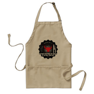After tasting my meat: it is all you eat standard apron