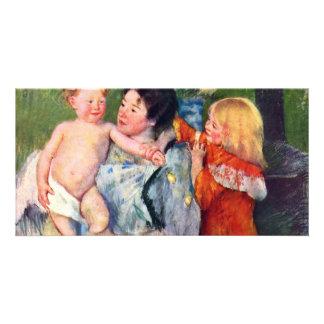 After The Bath By Cassatt Mary (Best Quality) Custom Photo Card
