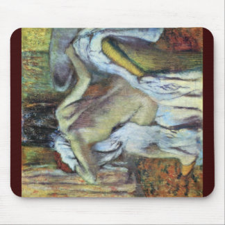 After The Bath To Dry Wife By Edgar Degas Mousepad