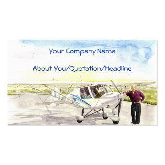 'After the Flight' Profile Card Business Card