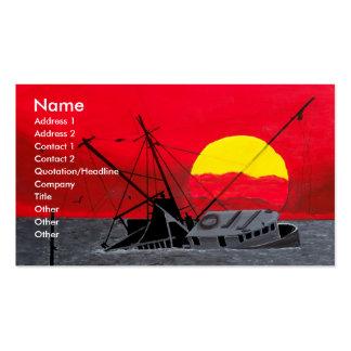 After the Hurricane Sunset Business Card Art