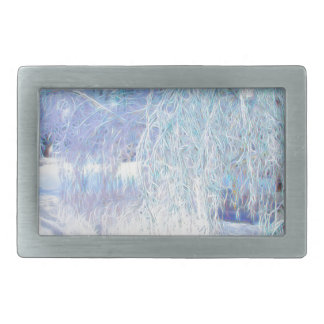 After the Icestorm-Green glow Rectangular Belt Buckles