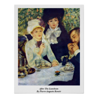 After The Luncheon By Pierre-Auguste Renoir Poster