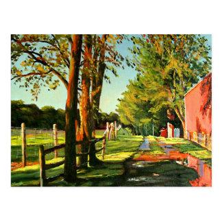 After The Rain Landscape Oil Painting Postcard