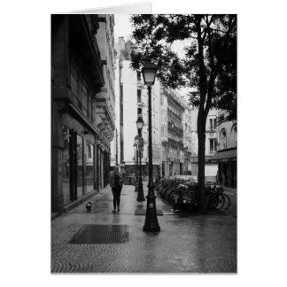 After the rain, Paris, France Card