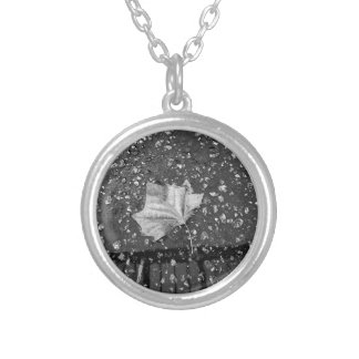 After the Rain Storm Silver Plated Necklace
