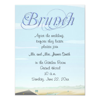 After the Wedding Brunch Invitations
