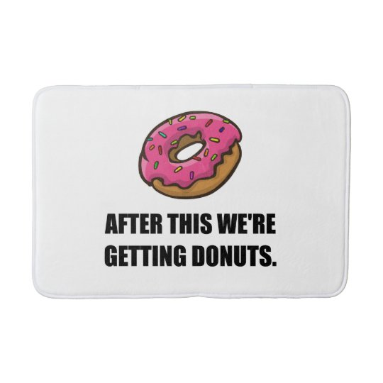 After This Getting Doughnuts Bath Mat
