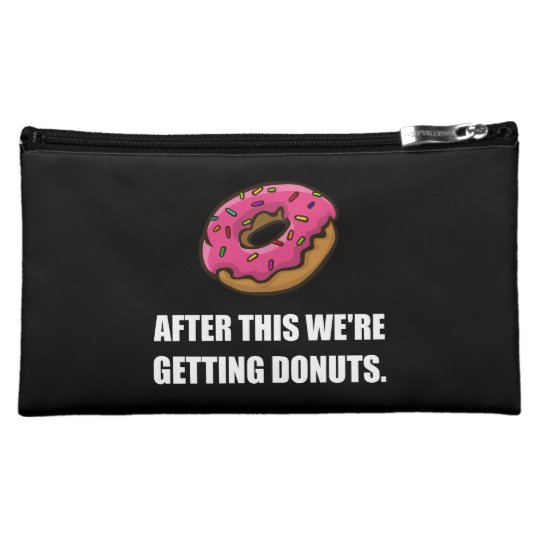 After This Getting Doughnuts Makeup Bags