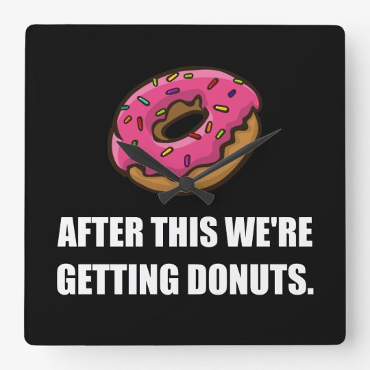 After This Getting Doughnuts Wallclock