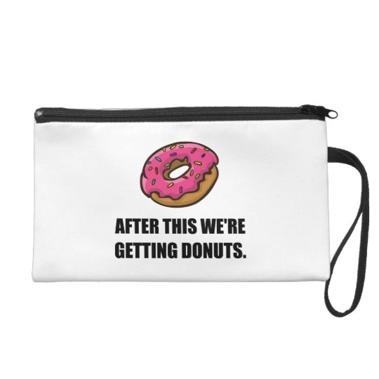After This Getting Doughnuts Wristlet Purse