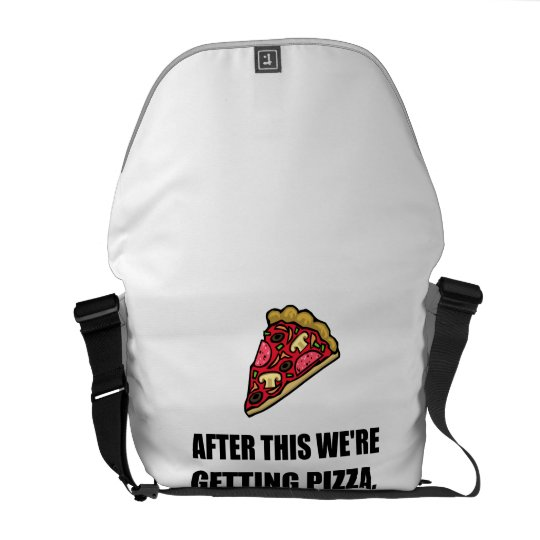 After This Getting Pizza Courier Bag
