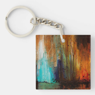 Afterglow Single-Sided Square Acrylic Key Ring