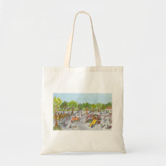 Afternoon at the park tote bag