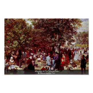 Afternoon At The Tuileries Park Poster