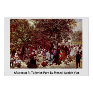 Afternoon At Tuileries Park By Menzel Adolph Von Print