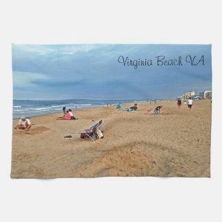 Afternoon Beach Fun Tea Towel