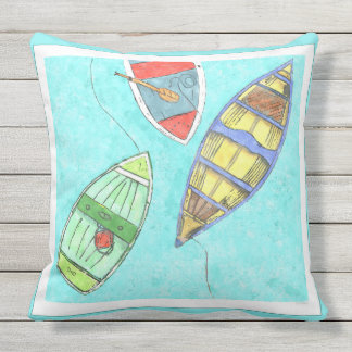 Afternoon Boats at Rest Pillow