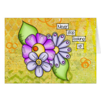 Afternoon Delight Positive Thought Doodle Flower Card